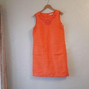 Sandra Darren| Embroided neck dress